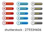 rating stars in various colors | Shutterstock .eps vector #275534606