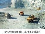 big yellow trucks in quarry... | Shutterstock . vector #275534684