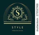monogram design elements ...   Shutterstock .eps vector #275537900