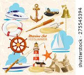 set of nautical or naval... | Shutterstock .eps vector #275545394