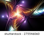 Abstract Neon Illuminated Colo...