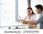 two people working with digital ... | Shutterstock . vector #275553794