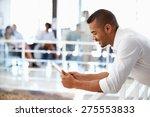 portrait of man in office using ... | Shutterstock . vector #275553833