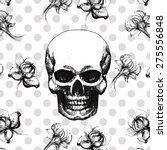 gothic seamless pattern with... | Shutterstock .eps vector #275556848