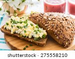 Egg Salad Sandwich With Green...