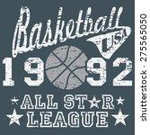 basketball all star league... | Shutterstock .eps vector #275565050