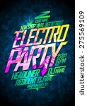 non stop electro party design | Shutterstock .eps vector #275569109