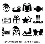 elf  christmas vector icons set  | Shutterstock .eps vector #275571083