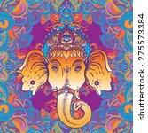 head of hindu god ganesha.... | Shutterstock .eps vector #275573384