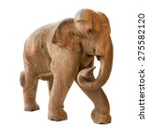 Old Elephant Model On Isolated...