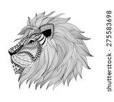 zentangle stylized lion face.... | Shutterstock . vector #275583698