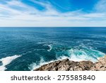 View Of The Galician Coast And...