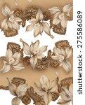 floral hand made design | Shutterstock . vector #275586089