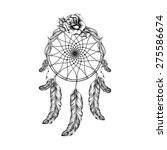 dream catcher with feathers ...   Shutterstock .eps vector #275586674