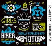 car and biker masculine badges. ...   Shutterstock .eps vector #275589404