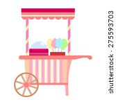 cotton candy stall | Shutterstock .eps vector #275593703