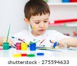 portrait of a cute little boy... | Shutterstock . vector #275594633