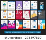 vector mega collection of flyer ... | Shutterstock .eps vector #275597810