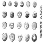 vintage chocolate mold sketches ...   Shutterstock . vector #27560281