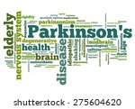 parkinson's disease issues  ... | Shutterstock . vector #275604620