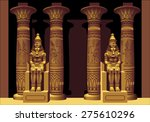 portal with two pharaohs in... | Shutterstock .eps vector #275610296