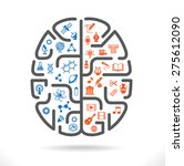 abstract human brain with the... | Shutterstock .eps vector #275612090