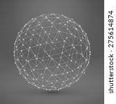 wireframe polygonal element. 3d ... | Shutterstock .eps vector #275614874