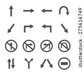 traffic icons | Shutterstock .eps vector #275616749