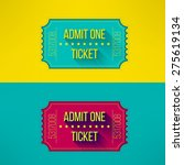 entry ticket in modern flat... | Shutterstock .eps vector #275619134