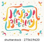 happy birthday card. | Shutterstock .eps vector #275619620