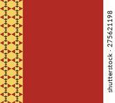 seamless pattern of geometric... | Shutterstock .eps vector #275621198