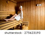 Young Woman Relaxing In The...