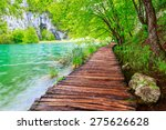 wooden path in national park in ... | Shutterstock . vector #275626628