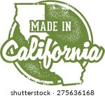 made in california usa stamp | Shutterstock .eps vector #275636168
