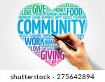 community word cloud  heart... | Shutterstock . vector #275642894
