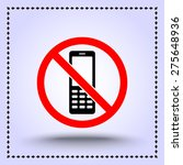 no phone sign icon  vector... | Shutterstock .eps vector #275648936