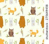 cute seamless pattern with... | Shutterstock .eps vector #275649458