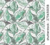 leaves seamless pattern | Shutterstock . vector #275650058