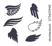 set of six vector silhouettes...