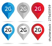 2g map pointer icon check in... | Shutterstock .eps vector #275655959