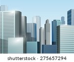 sunrise cityscape vector stock...