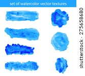 set of hand drawn watercolor... | Shutterstock .eps vector #275658680