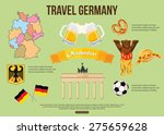 germany travel background with