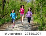 family sport  happy active... | Shutterstock . vector #275661074