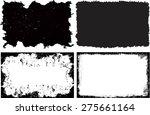 grunge frame set texture  ... | Shutterstock .eps vector #275661164