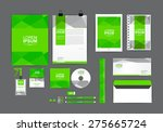 green corporate identity... | Shutterstock .eps vector #275665724