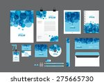 blue and white corporate... | Shutterstock .eps vector #275665730