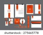 orange corporate identity... | Shutterstock .eps vector #275665778