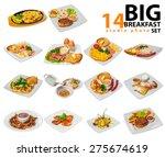 big breakfast set | Shutterstock . vector #275674619