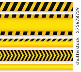 yellow with black police line...   Shutterstock .eps vector #275678729